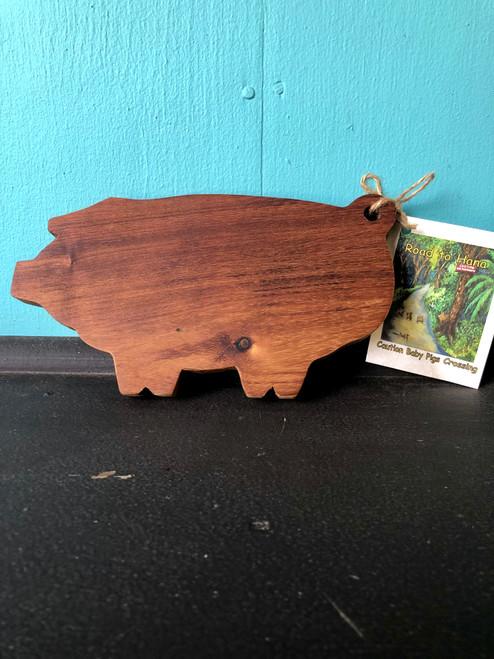 Koa Wood Pig Cutting Board