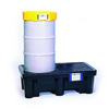 Fits two 55-gallon drums. Applications for the all-polyethylene units include satellite waste collection and storage of virgin chemicals. Black color helps hide dirt and grime. Meets SPCC, EPA Container Storage Regulation 40 CFR 264.175 and UFC Spill Containment Regulations.