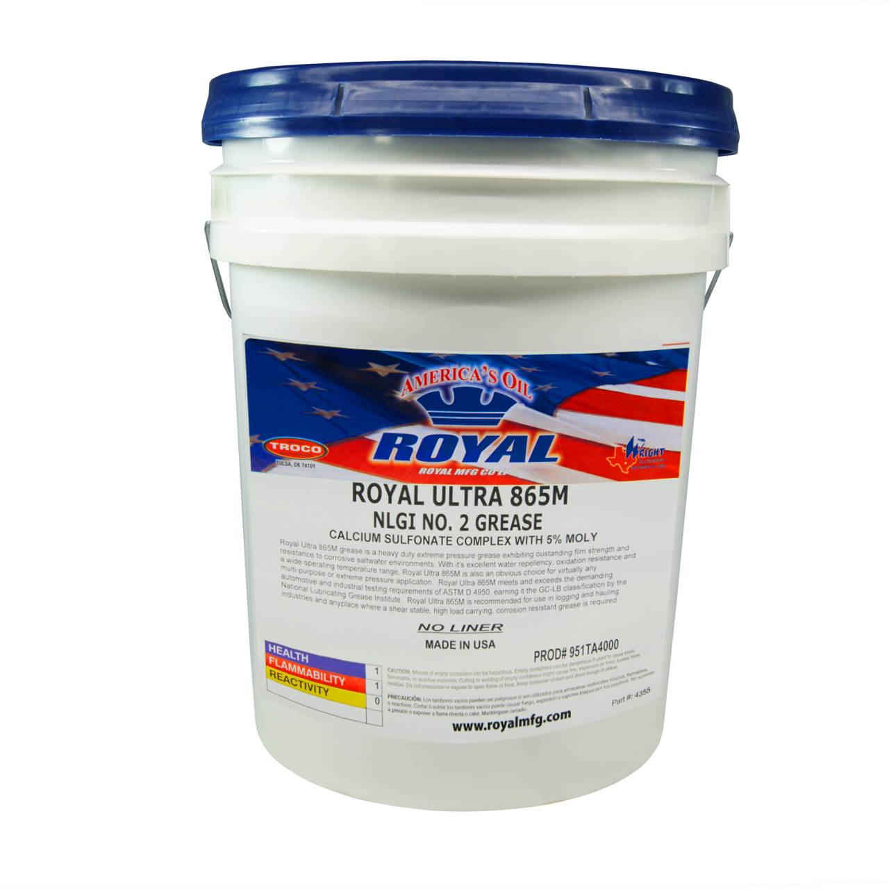 Royal Ultra 865M Grease - Midwest Lubricants LLC