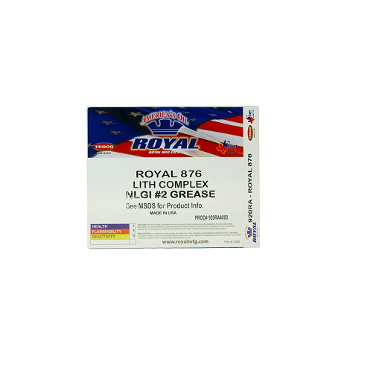 Royal 876 Lithium Complex C & M