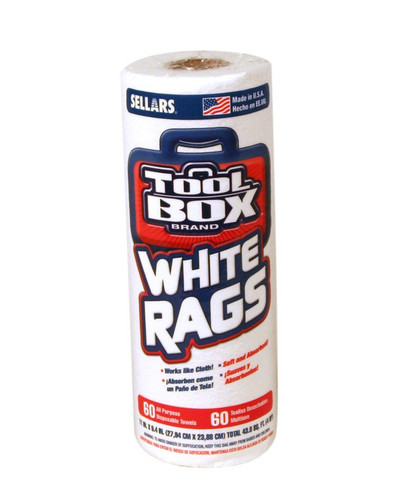 - TOOLBOX® white rags are ideal for painting, staining, window cleaning, general cleaning and 1000's of other uses around the shop or home