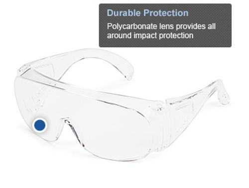 Classic Utility visitor spectacles are an uncoated, economical solution for plant guests who need one-time-use eye protection.