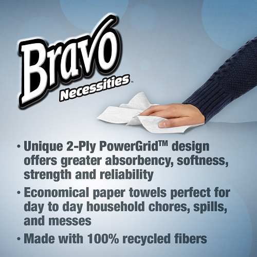 Bravo Necessities® 2-Ply Paper Towels 70Ct
