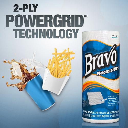 Bravo Necessities® 2-Ply Paper Towels 85Ct