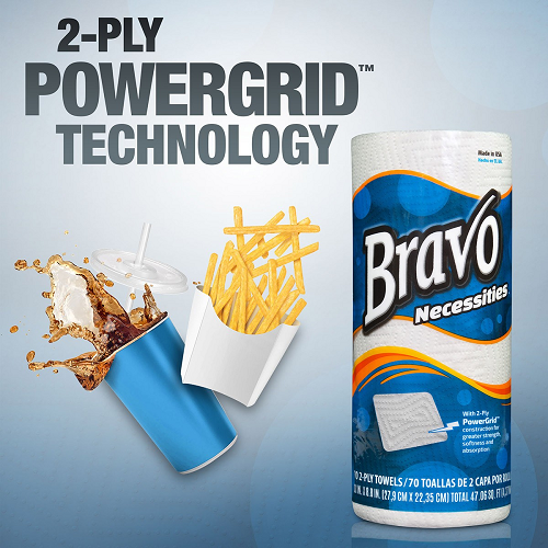 Bravo Necessities® 2-Ply Paper Towels 100Ct