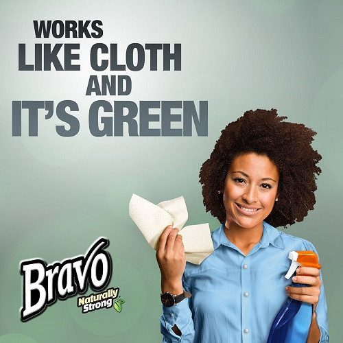Bravo Naturally Strong® Premium Recycled Paper Towels