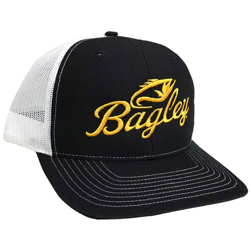 Bagley Pro Mesh Back Hat - Black-White
