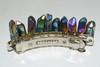 Multi Color Rainbow Angel Aura Quartz Stone Hair Clip Barrette Angel Aura Quartz - Wicca, Pagan, Protection, Crystal Grid, Crystal Therapy