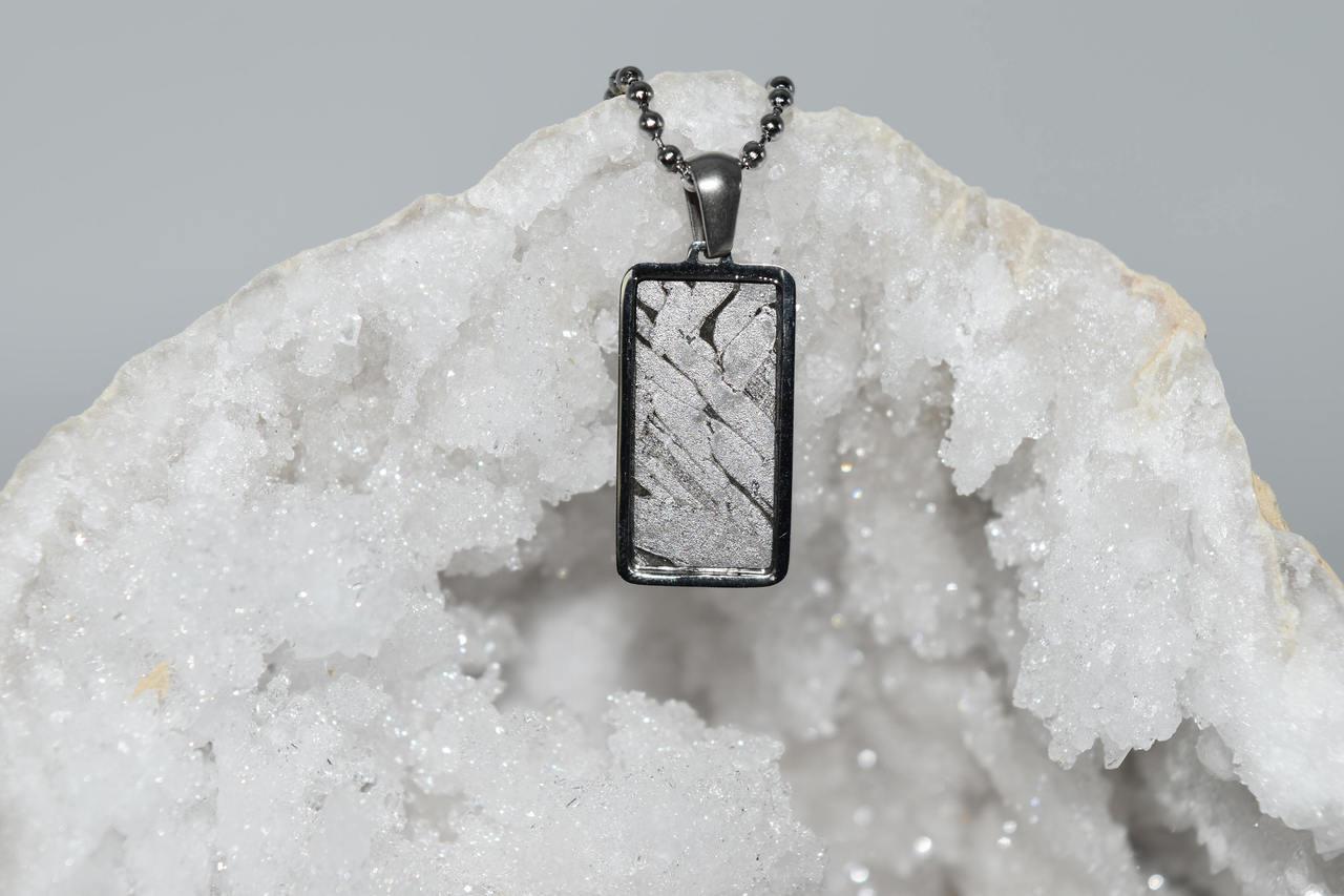 Meteorite Pendant Rt2- Seymchan - 3rd Eye, Crown Activation, Ascension,  Spiritual Awakening, High Vibration, Crystal Healing, Wicca, Pagan