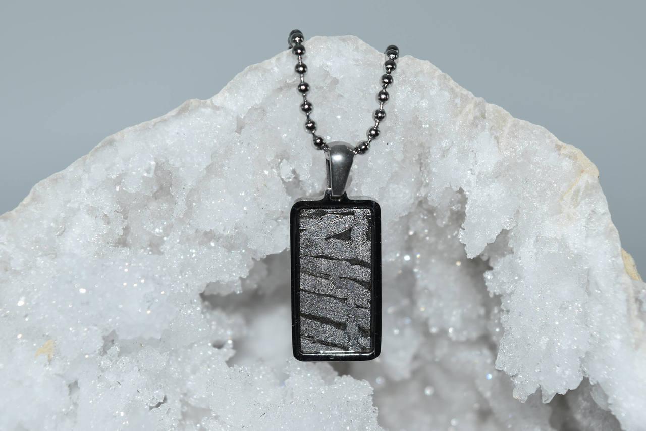 Meteorite Pendant Rt4- Seymchan - 3rd Eye, Crown Activation, Ascension,  Spiritual Awakening, High Vibration, Crystal Healing, Wicca, Pagan