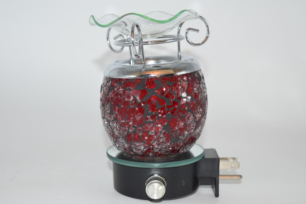 Red Crackle Design Dimmable Oil Burner Aromatherapy Lamp Outlet Plug -  Aromatherapy, Oil Burner, Zen Decor, Altar Supply, Wicca, Pagan,  Meditation,