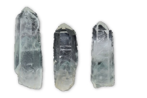2pc Md Green Phantom Pyramid Quartz Crystal