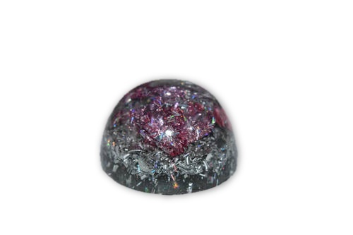 Pink Mini Orgone Decor -Tibetan Quartz, Pyrite, Blue Kyanite