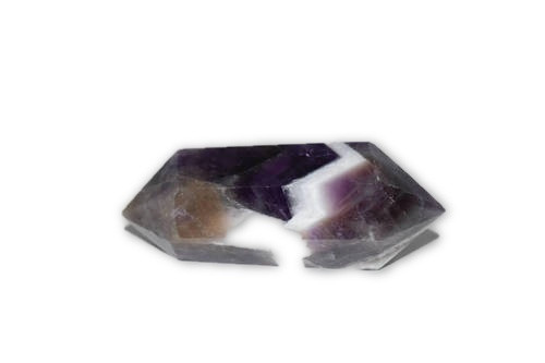 34g Chevron Amethyst Double Terminated Wand Point