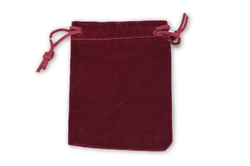 Maroon Velvet Pouch 2 pc- Crystal Carrying Bag, Bag, Pouch