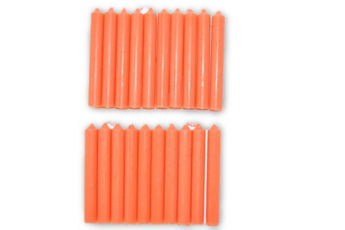 20pc Orange Chime Candles Pack-