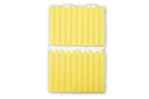 20pc Yellow Chime Candles Pack-