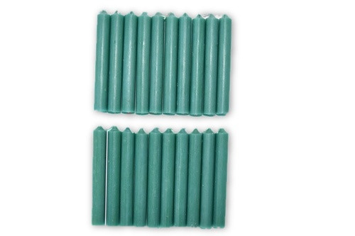 20pc Green Chime Candles Pack-
