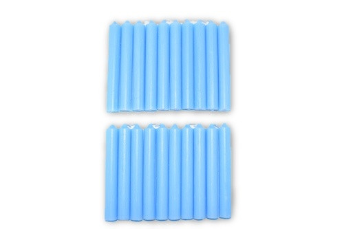 20pc Light Blue Chime Candles Pack-