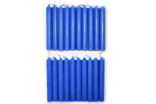 20pc Dark Blue Chime Candles Pack-