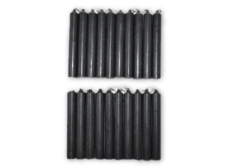 20pc Black Chime Candles Pack-