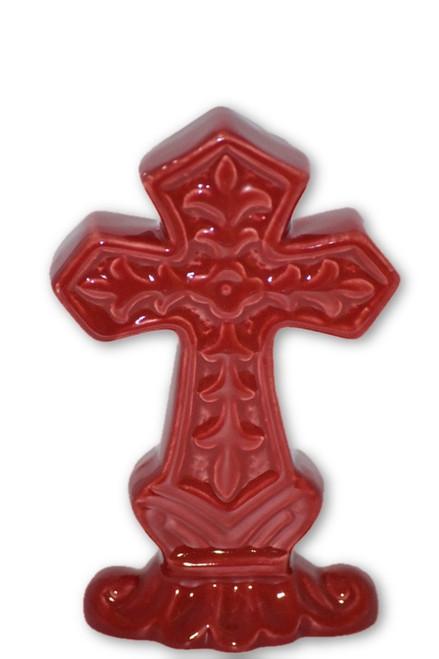 Red Cross Statue Decor-  Spiritual, Altar Supplies