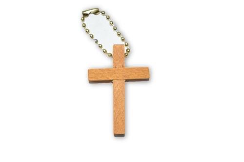 Mini Wood Cross  Keychain- , Spiritual, Altar Supplies, Decor