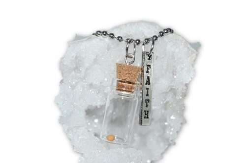 Mustard Seed Necklace-  Spiritual, Jewelry, Decor, Hope, Faith