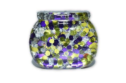 Orgone Mini Cauldron  -Quartz Crystal, Pyrite, Blue Kyanite- Halloween Decor