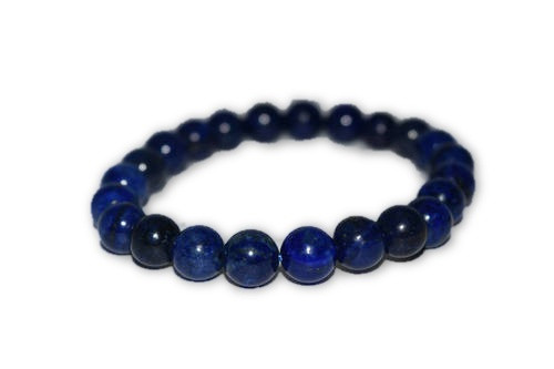 6mm Blue Lapis Lazuli Crystal Bracelet - Reiki, Healing, Meditation, Crystal Grid, Pagan, Wicca, Spells, Protection