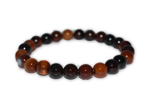 6mm Carnelian Crystal Bead Bracelet- Reiki, Healing, Meditation, Crystal Grid, Pagan, Wicca, Spells, Protection