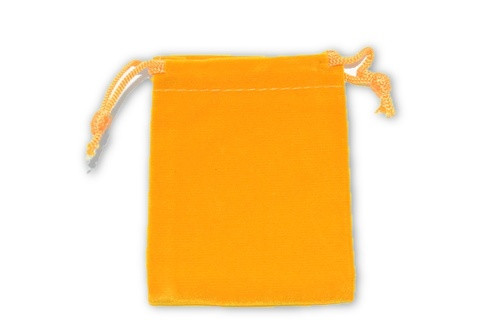 Orange Velvet Pouch 2 pc. - Crystal Carrying Bag, Bag, Pouch, Case