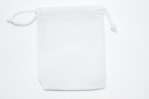 White Velvet Pouch 2 pc. - Crystal Carrying Bag, Bag, Pouch