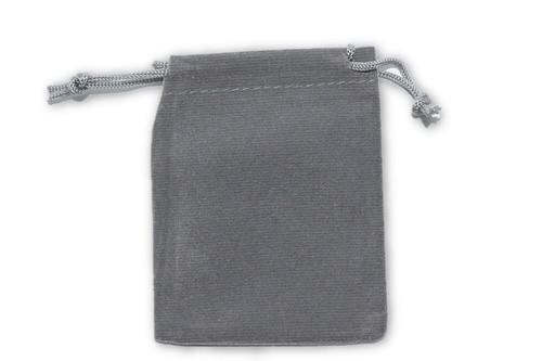 Grey Velvet Pouch 2 pc. - Crystal Carrying Bag, Bag, Pouch