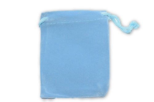 Light Blue Velvet Pouch 2 pc. - Crystal Carrying Bag, Bag, Pouch