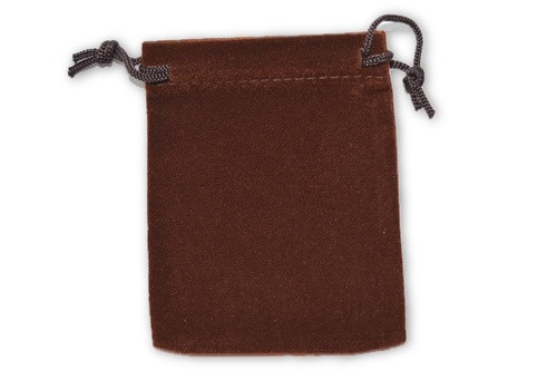 Brown Velvet Pouch 2 pc. - Crystal Carrying Bag, Bag, Pouch