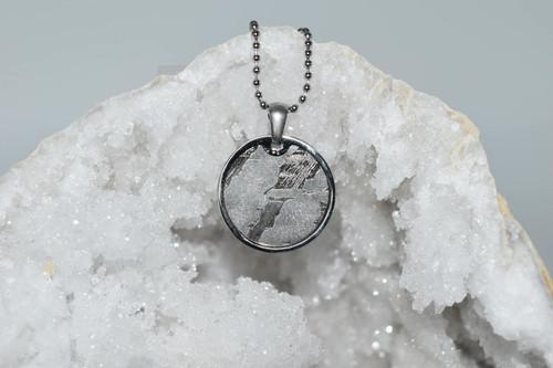 Meteorite Pendant Rd2- Seymchan - Crystal Pendant