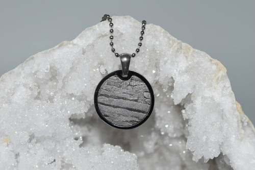 Meteorite Pendant Rd4- Seymchan - Crystal Pendant