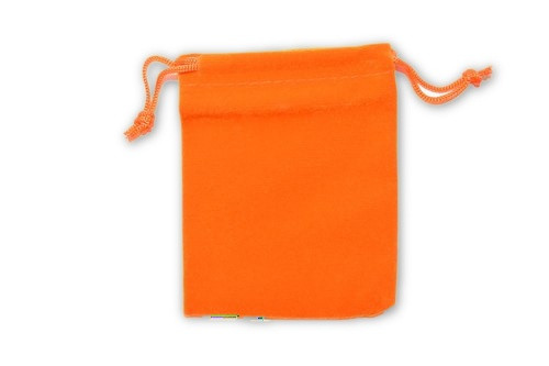 Orange Velvet Pouch 2 pc. - Crystal Carrying Bag, Bag, Pouch