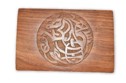 Celtic Horse Carved Wooden Box - Tarot Cards, Crystals, Altar Supplies, Gift Giving