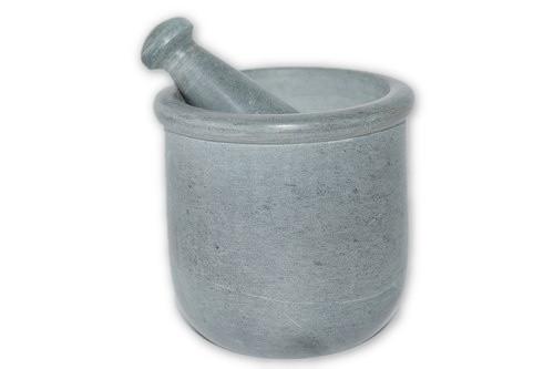 Grey Mortar & Pestle