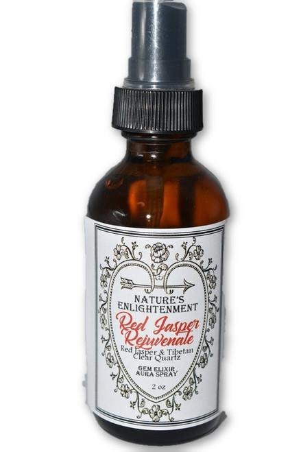 Red Jasper Rejuvenate Gem Elixir Aura Spray 2 oz -Fragrance Spray with Crystals