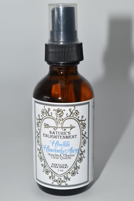 Howlite- Heavenly Aura Gem Elixir Aura Spray 2oz- Fragrance Spray with Crystals