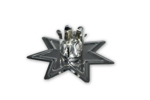 Silver Metal Chime Candle Holder - Candle Magick, Wicca, Pagan, Meditation, Reiki, Spiritual