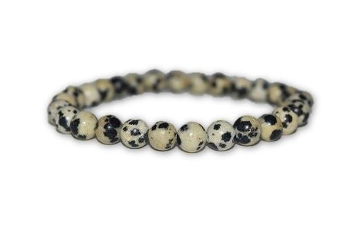 6mm Dalmatian Jasper Crystal Bracelet-