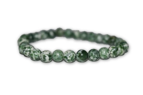 6mm Green Tree Agate Crystal Bracelet