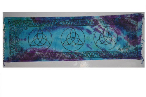 Charmed Triquetra Tapestry- Altar Cloth, Sarong, Stole, Scarf, Headwrap