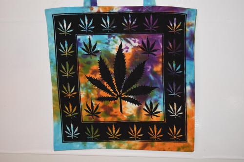 Leaf Tote Bag  - Tie Dye - Tote Bag - Cloth Bag