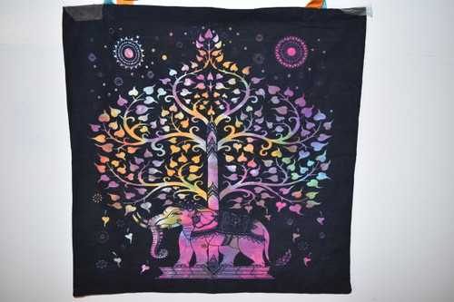 Elephant Tree of Life Tote Bag  - Tie Dye - Tote Bag - Cloth Bag