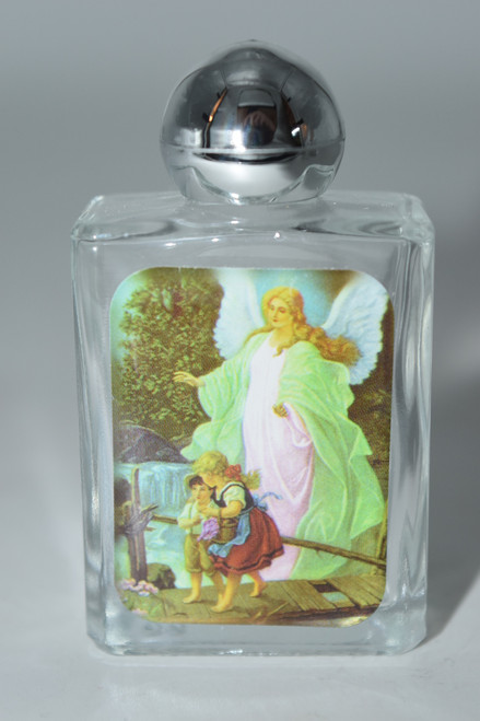Guardian Angel Glass Holy Water Bottle- 1pc- Empty Holy Water Bottle